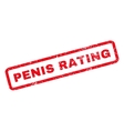 Penis Rating Rubber Stamp vector image vector image