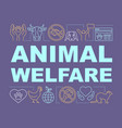 pet shelter animal welfare word concepts banner vector image vector image