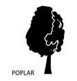 poplar icon simple style vector image vector image