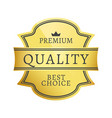 premium quality best choice vector image vector image