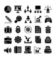project management solid icons vector image vector image