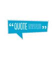 quote talk logo vector image vector image