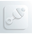 rattle icon vector image