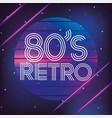retro 80s geometric graphic style background vector image vector image