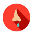 runny nose circle icon vector image