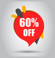 sale 60 off discount price tag icon business vector image