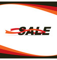 sale banner with red ribbons vector image