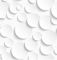 Seamless pattern of white circles with drop vector image