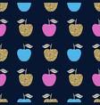 seamless pattern with apples scandinavian design vector image