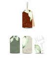 set classic tags with hand drawn watercolor vector image vector image