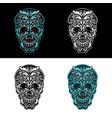 set ornamental skull vector image vector image