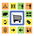 shopping mall icons set 2 vector image vector image