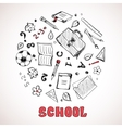 Sketch of school elements vector image