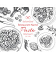 Sketch - pasta card menu
