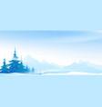 snow blizzard winter mountains landscape vector image vector image