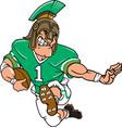 spartan sports logo mascot football vector image vector image