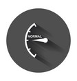 speedometer tachometer fuel normal level icon vector image