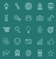 Start up line color icons on green background vector image vector image