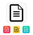 text file icon vector image vector image