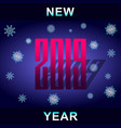 text new year 2019 vector image vector image