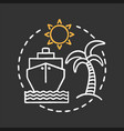 travel agency chalk concept icon vector image