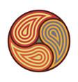 triskelion symbol tattoo geometric circular vector image vector image