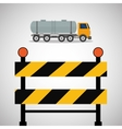 Under construction design supplies icon barrier vector image vector image