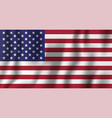 usa realistic waving flag national country vector image vector image