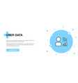 user data icon banner outline template concept vector image vector image