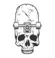 vintage monochrome skateboarding concept vector image vector image