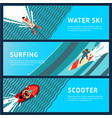 water sport horizontal banner flat style top vector image