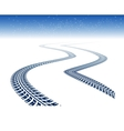 Winter tire tracks vector image vector image