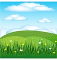Year landscape with flower vector image vector image