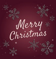 merry christmas greeting card typographic text vector image