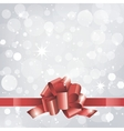 Christmas background or card with red ribbon vector image