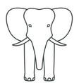 elephant face contour icon vector image