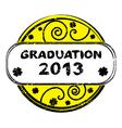 graduation 2013 vector image
