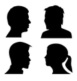 face profile silhouettes
