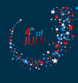 4th july card with stars vector image vector image