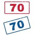 70 Rubber Stamps vector image vector image