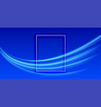 abstract blue background with light streak design vector image