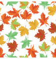 autumn maple leaf seamless pattern foliage vector image vector image