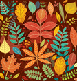 Background of autumn leaves vector image