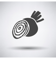 Beetroot icon on gray background vector image