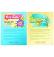 big spring best sale advertisement labels snowdrop vector image vector image