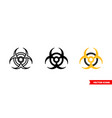 biohazard icon 3 types isolated sign vector image vector image