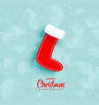 blue background with christmas winters socks vector image
