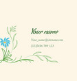 business card with floral ornament in indian style vector image