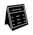 calendar note icon black vector image