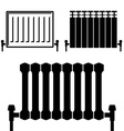 central heating radiator black symbols vector image vector image